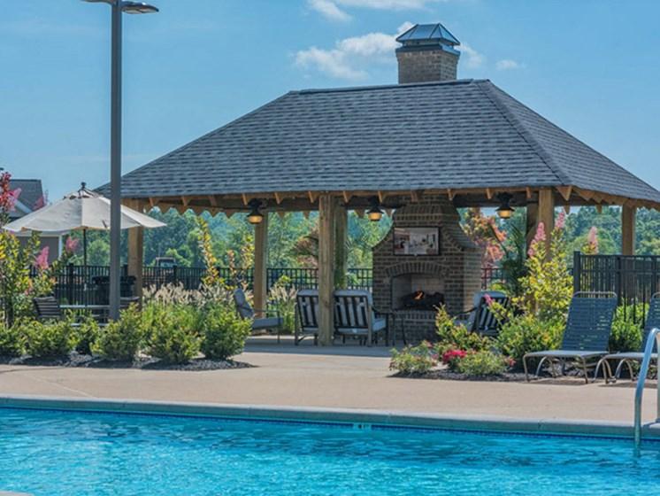 Swimming Pool With Cabana at Abberly Waterstone Apartment Homes, Stafford, VA