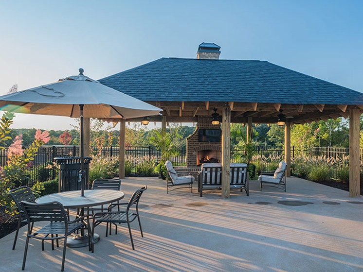 Covered Patio at Abberly Waterstone Apartment Homes, Stafford, Virginia