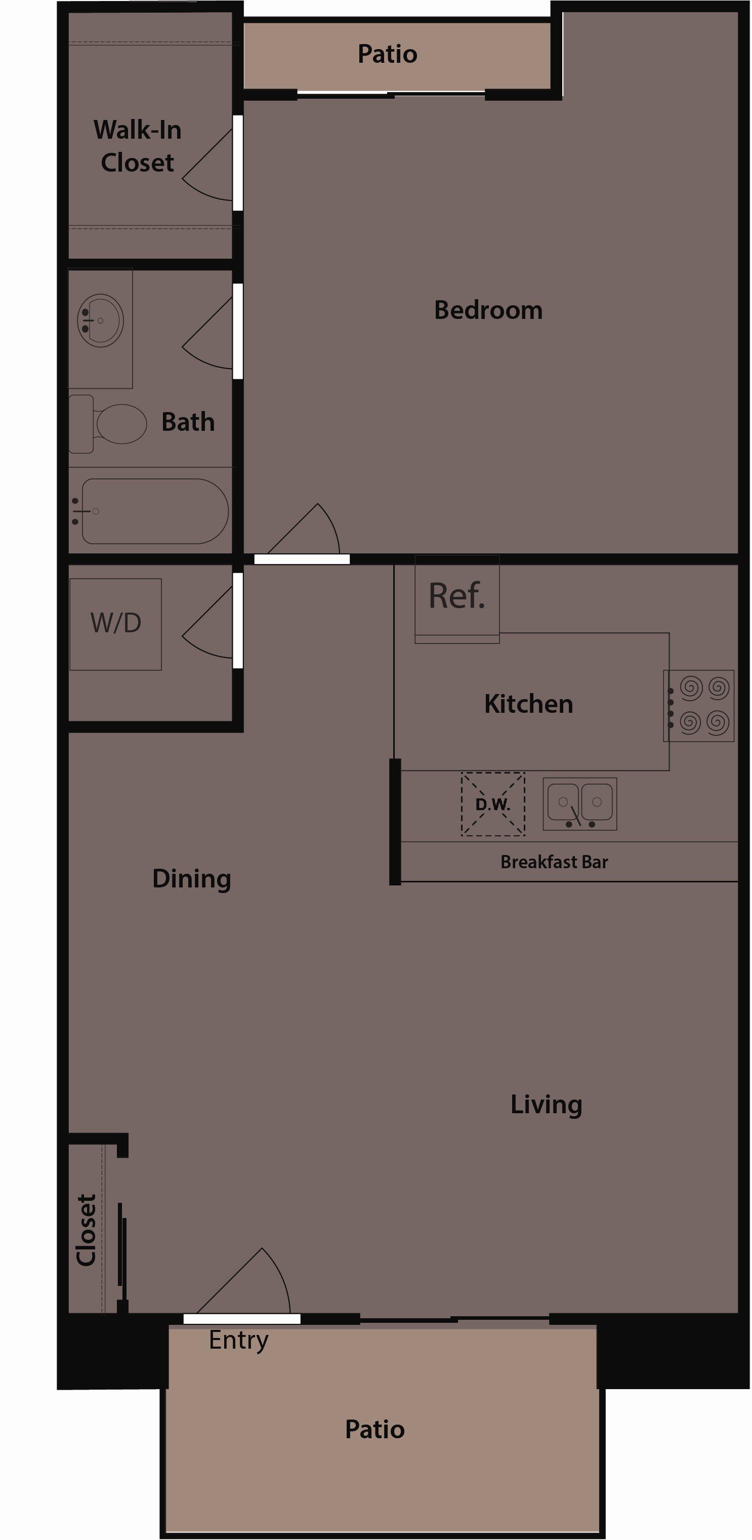 Floor plans of desert flower apartment homes in palm springs ca the cabana floor plan 1 mightylinksfo