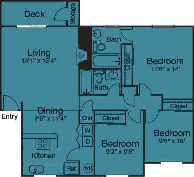 3 Bedrooms Floor Plan 5