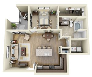 Azure floor plan | Stone Pointe Apartments for rent in Woodbridge, Virginia