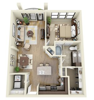 Celadon floor plan | Stone Pointe Apartments for rent in Woodbridge, Virginia