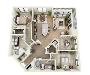 Indigo floor plan | Stone Pointe Apartments for rent in Woodbridge, Virginia