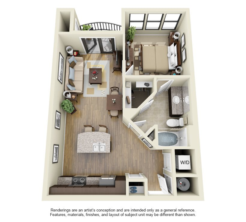 Midnight floor plan | Stone Pointe Apartments for rent in Woodbridge, Virginia