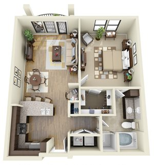 Olive floor plan | Stone Pointe Apartments for rent in Woodbridge, Virginia