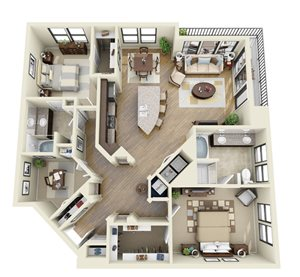 Steel floor plan | Stone Pointe Apartments for rent in Woodbridge, Virginia