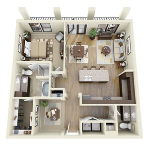 Viridian floor plan | Stone Pointe Apartments for rent in Woodbridge, Virginia