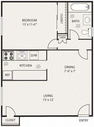 The Huntington Floor Plan 1