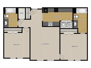 Walnut Commons - 1 Bedroom B1 floor plan