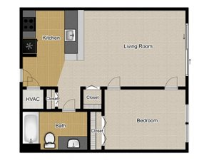 Walnut Commons - Studio floor plan