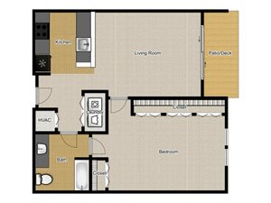 Walnut Commons - 1 Bedroom A2 floor plan