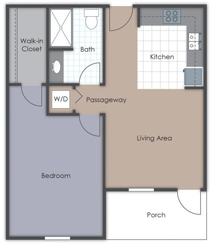 Large One Bedroom with Washer and Dryer
