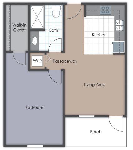1 Bedroom - Deluxe Floor Plan 3