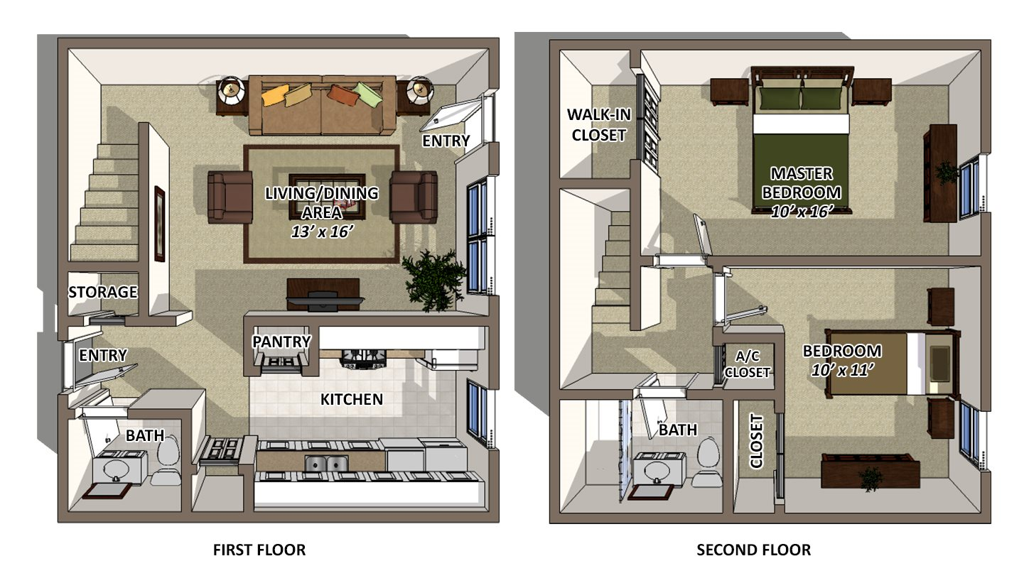 Uptown - Townhome Floor Plan 6