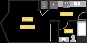 Apartment Layout at The Martin, San Francisco, CA