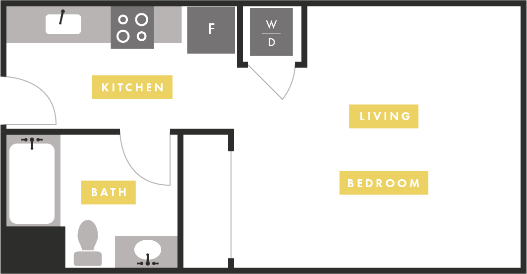Apartment Layout at The Martin Apartments, 2051 3rd Street