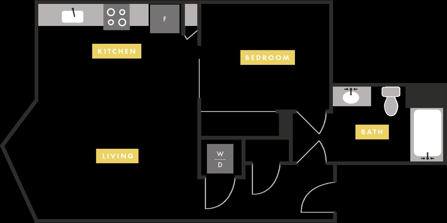 Apartment Layout at The Martin Apartments, California, 94107