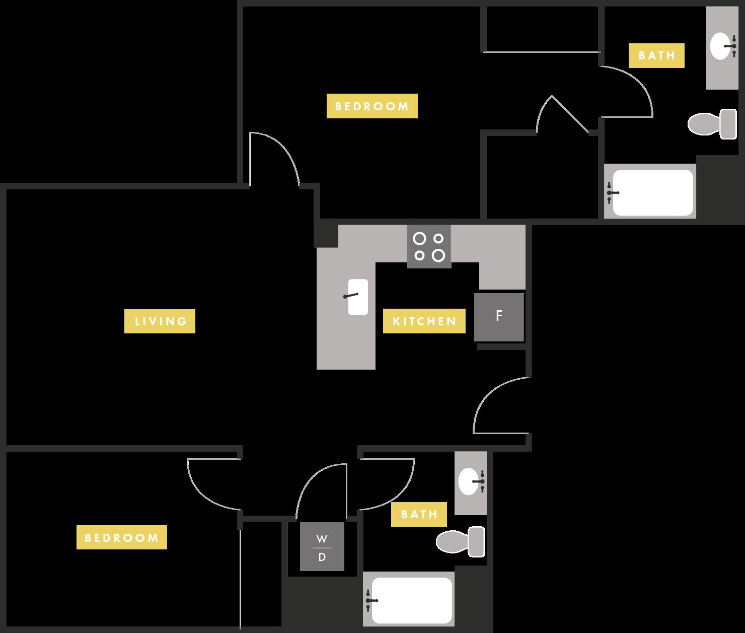 Apartment Layout at The Martin Apartments, San Francisco, California