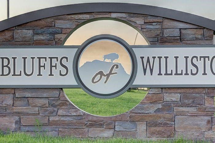 Sign for Bluffs of Williston Apartments ND