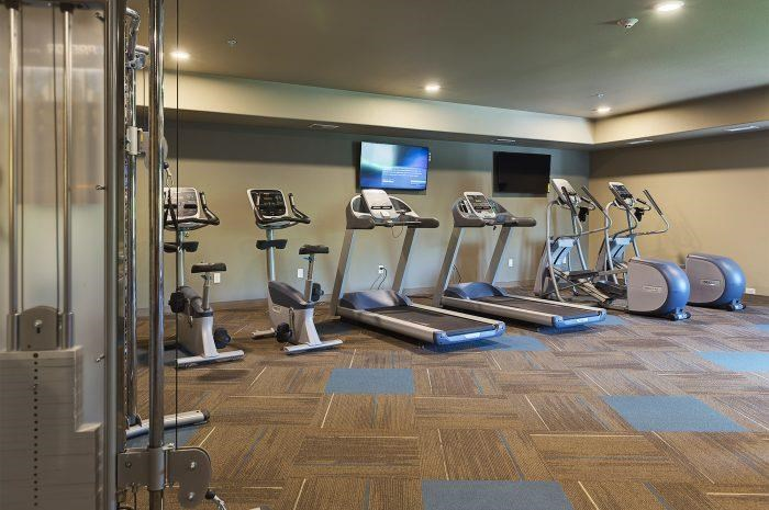 Fitness Center at Bluffs of Williston Apartments ND