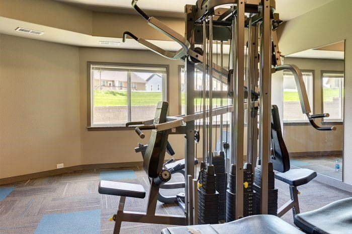 Fitness Equipment at Bluffs of Williston Apartments ND