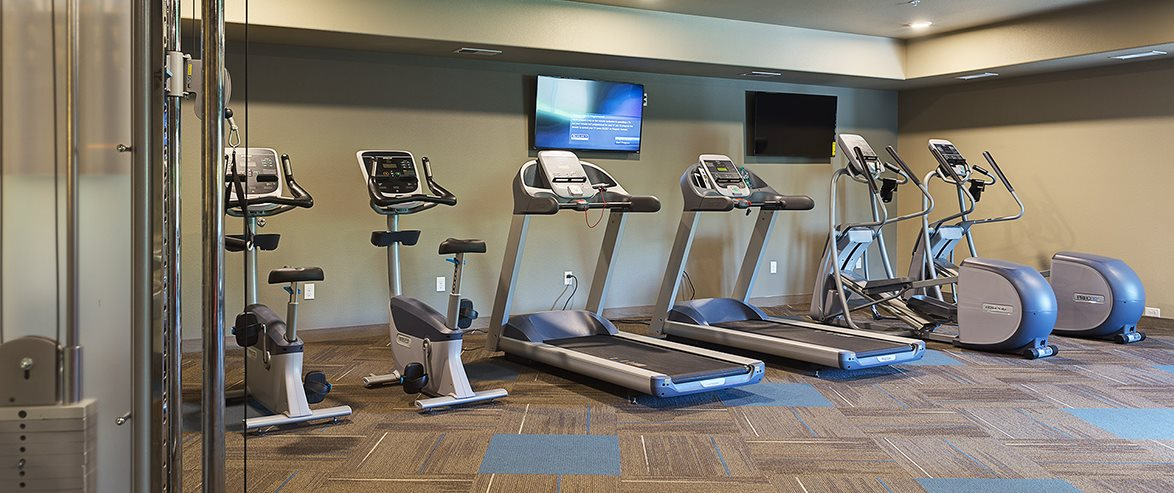 Workout Equipment at Bluffs of Williston Apartments ND