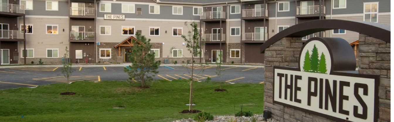 Exterior View of Pines Rapid City Apartments SD