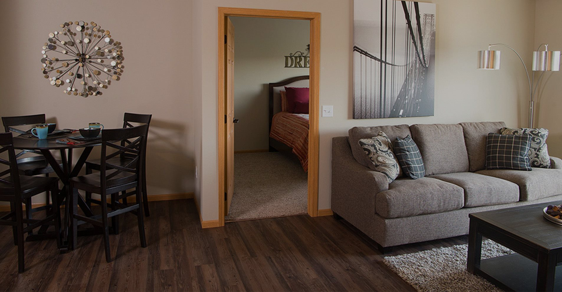 Living Room at Pines Rapid City Apartments SD