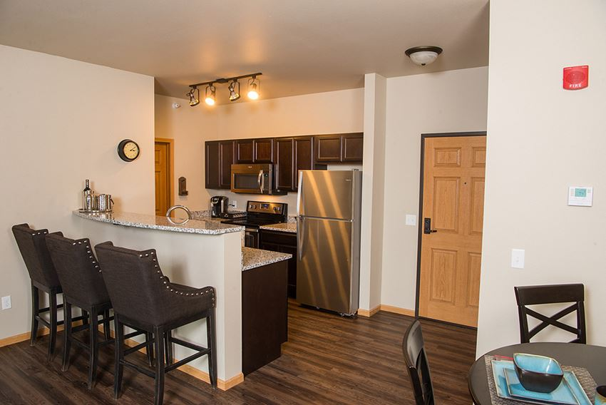 Kitchen at Pines Rapid City Apartments SD