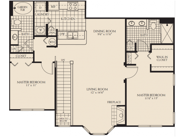 Barksdale with Garage Floor Plan 3
