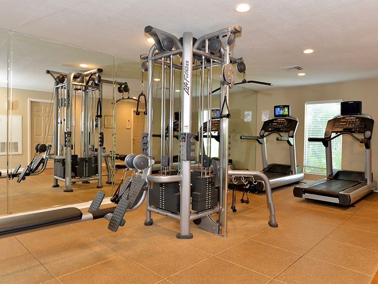 Workout Facility with various machines Aventine at Forest Lake Oldsmar Tampa Florida