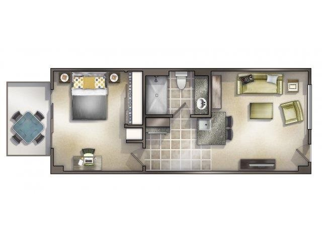 1-1 - Unfurnished Floor Plan 1