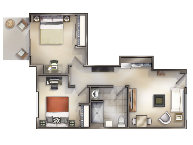 2-1 - Large Floor Plan 3