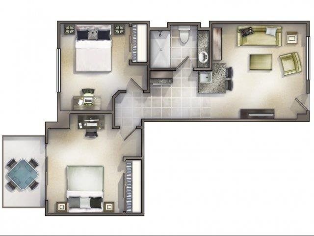 2-1 - Small Floor Plan 4
