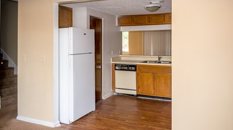 Kitchen and hallway view at Bluff House Apartment Homes, Florida, 32073