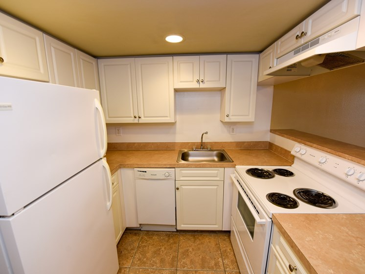 Kitchen at Green Oaks Apartments, Tampa, FL, 33616