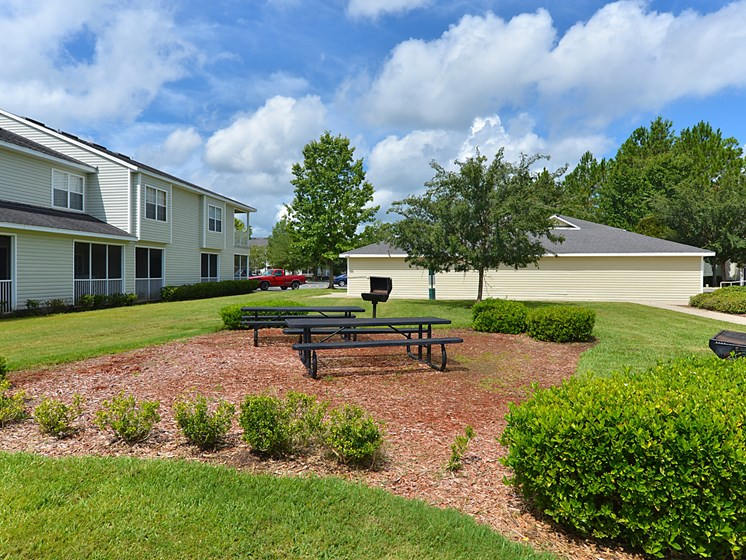 Exterior BBQ Grill and Picnic Tables Gainesville Florida