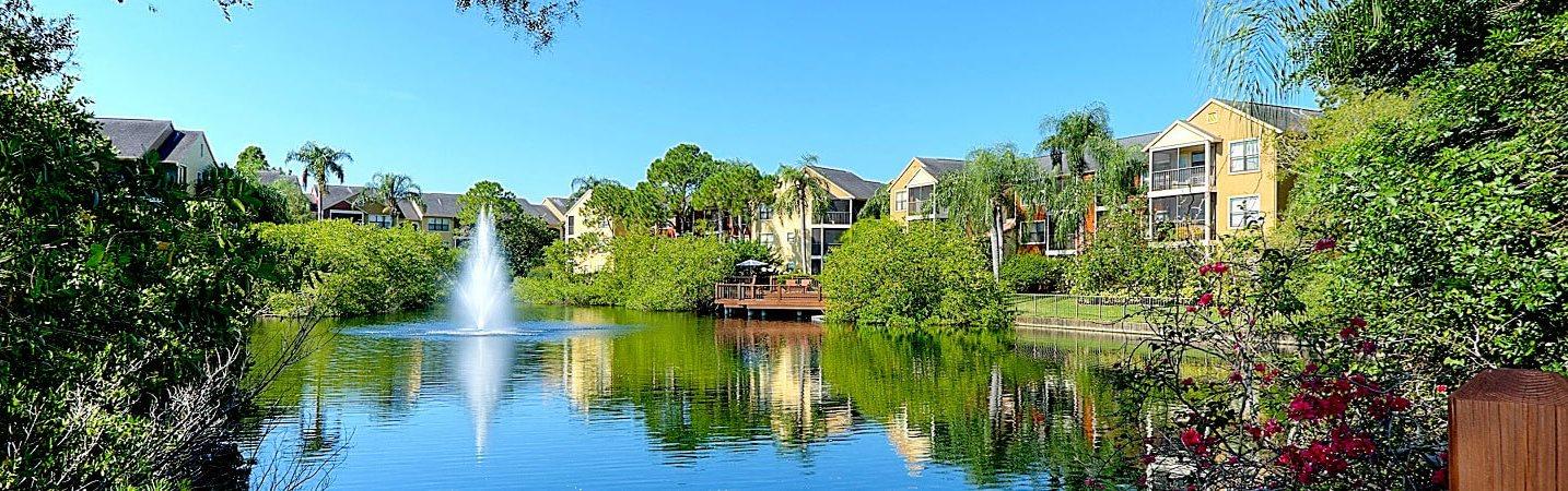 Beautiful Waterway on Property at Mandalay on 4th Apartments, Florida