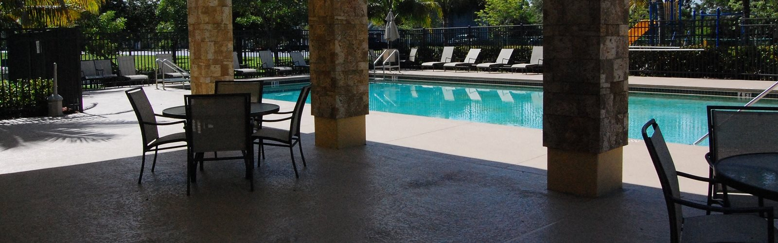 Exterior Pool Lounge Chairs  Sitting Area Naples Florida