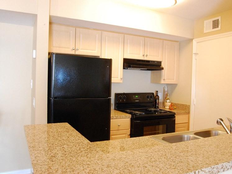 Interior Kitchen Black Appliances Naples Florida