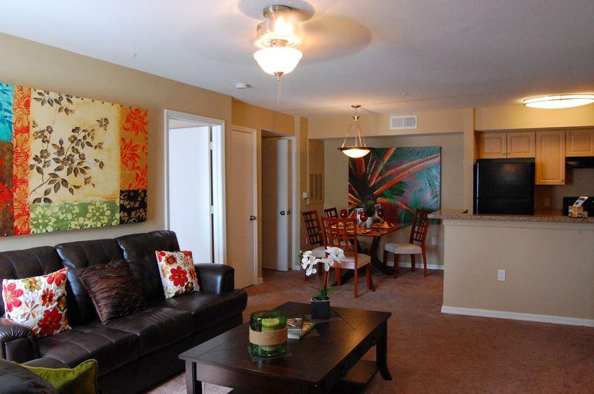 Model Unit Living Room Dining Room Carpet Flooring Naples Florida