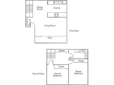 Floor Plan 2Bdr 2 Bth