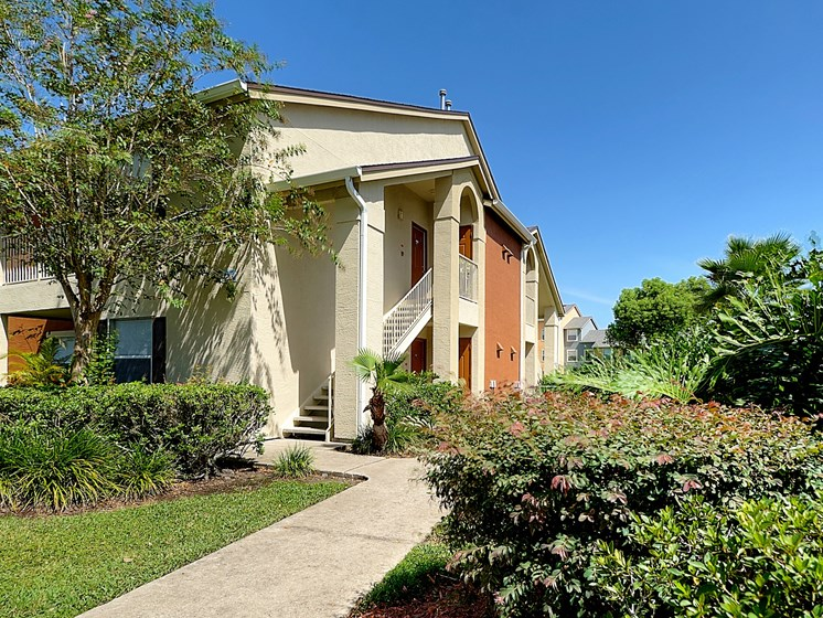 Exterior Building Walking Path Stairs Orlando Florida