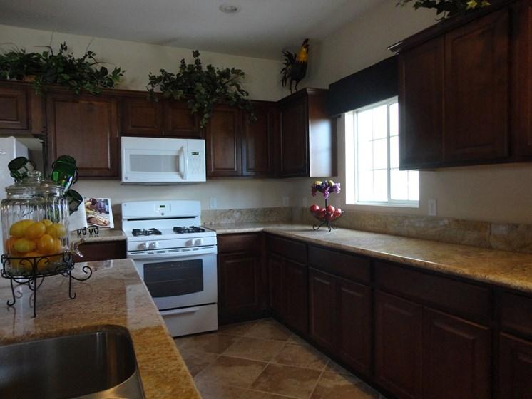 Interior Kitchen Counter Stove Microwave Cabinets Palmilla North Las Vegas Nevada