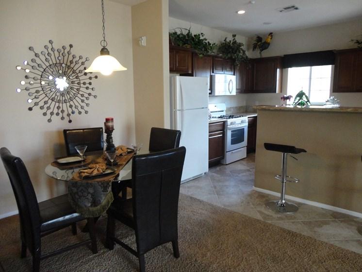Interior Dining Room Kitchen Refrigerator Palmilla North Las Vegas Nevada
