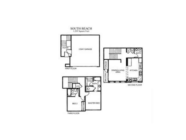 South Beach Floor Plan 1