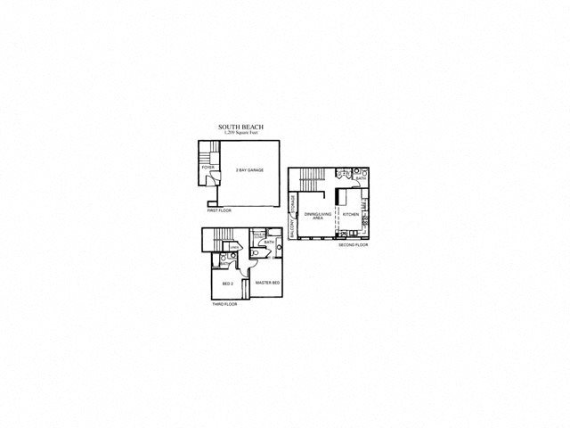 South Beach Renovated Floor Plan 2