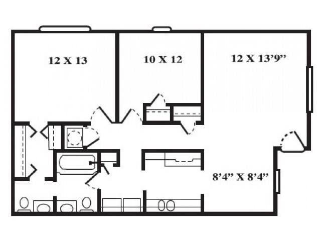 Port FloorPlan at Seaside Villas Apartments, Pacifica SD Mgt, St Augustine