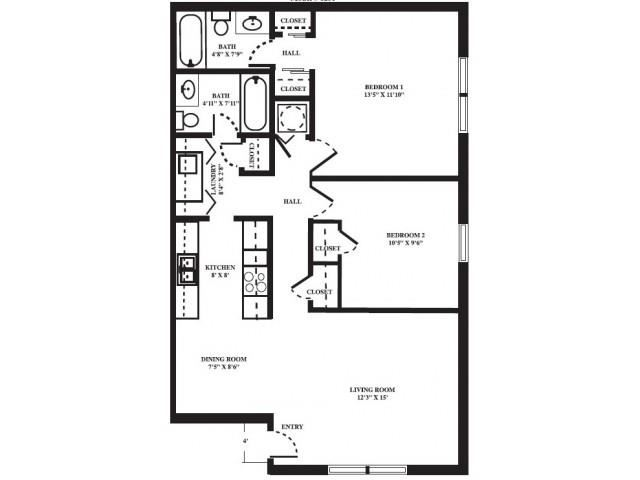 Starboard FloorPlan at Seaside Villas Apartments, Pacifica SD Mgt, Florida