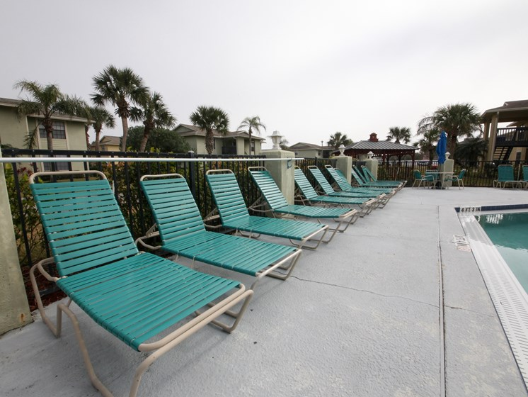 Lounge Chairs by the poolside St. Augustine Florida